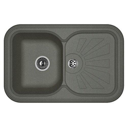 Врезная кухонная мойка 78 см FLORENTINA Крит-780 FG 20.170.D0780.102 черный