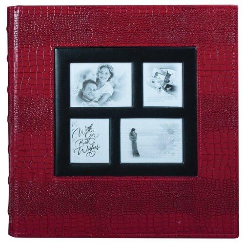 Фотоальбом BRAUBERG обложка под кожу рептилии (390713/390714), 500 фото, для формата 10 х 15, красный