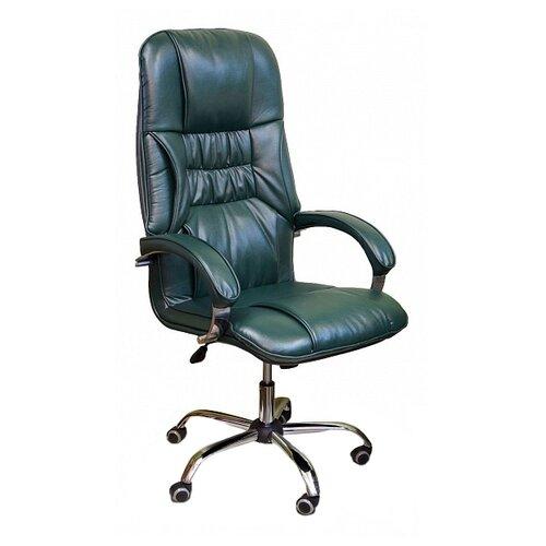 цена на Компьютерное кресло Креслов Бридж КВ-14-131112 для руководителя, обивка: искусственная кожа, цвет: зеленый