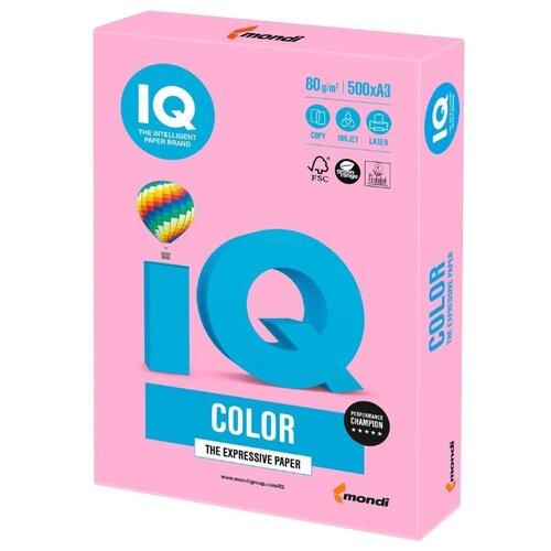 Фото - Бумага IQ Color A3 80 г/м² 500 лист. розовый неон NEOPI 1 шт. бумага iq color а4 80 г м² 100 лист розовый неон neopi 1 шт