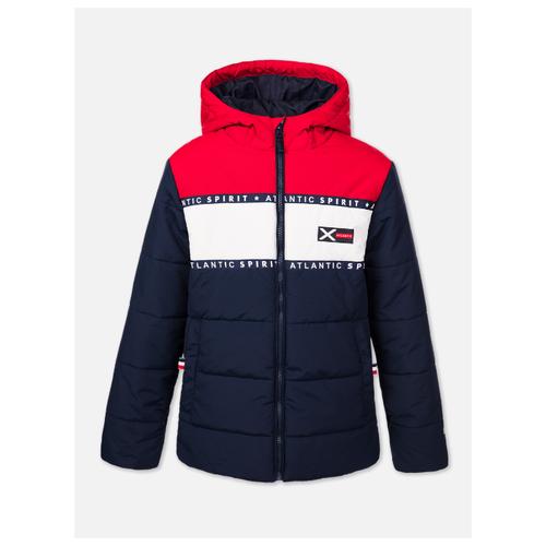 Купить Куртка playToday 120117120 размер 152, темно-синий/красный/белый, Куртки и пуховики