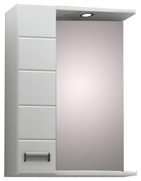 """Купить Зеркало """"Вега 60"""" левое, с подсветкой, белый, со шкафчиком по низкой цене с доставкой из Яндекс.Маркета (бывший Беру)"""