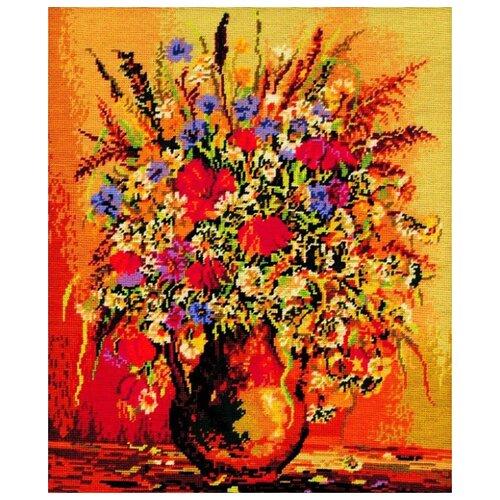 Schaefer Набор для вышивания гобелена Ваза с цветами 50 x 60 см (433/5) schaefer набор для вышивания 9 x 12 см 460 12