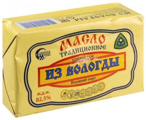 Из Вологды Масло сливочное традиционное 82.5%, 180 г