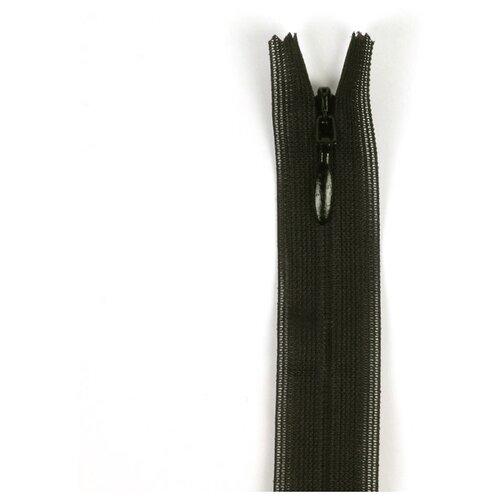 Купить YKK Молния потайная неразъемная 0004715/60, 60 см, темно-коричневый/темно-коричневый, Молнии и замки