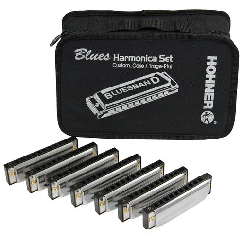 Губная гармошка Hohner Blues Band (M91105) 7 шт., серебристый