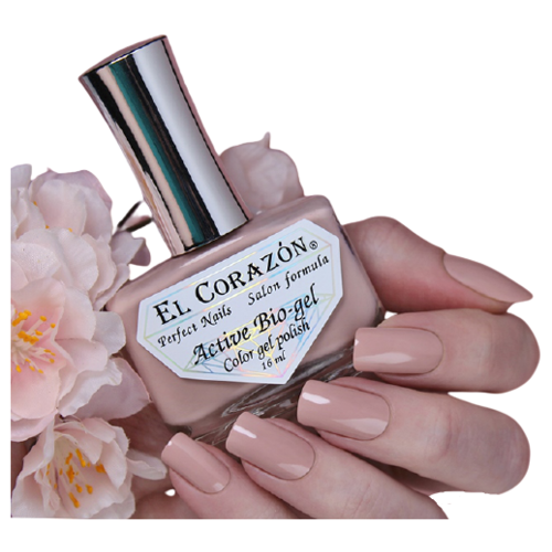 Гель El Corazon Active Bio-gel polish Cream, 16 мл, 423/434 chi luxury black seed oil curl defining cream gel