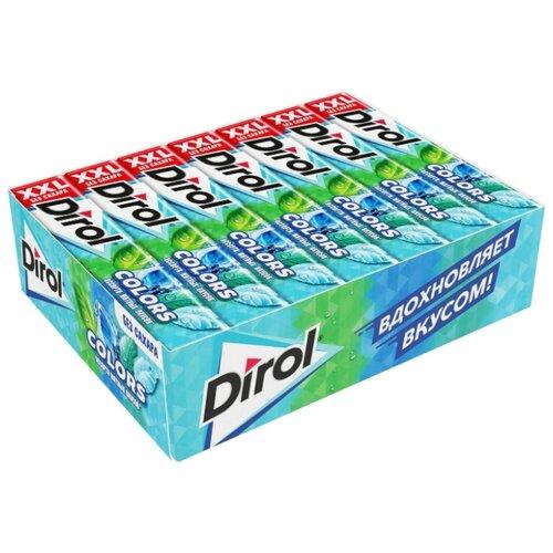 Жевательная резинка Dirol Cadbury Colors XXL без сахара ассорти мятных вкусов, 18 шт*19 г