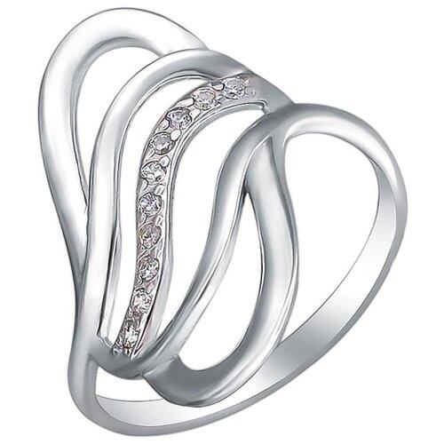 Эстет Кольцо с фианитами из серебра Н11К152460, размер 18.5