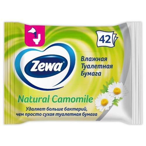 Влажная туалетная бумага Zewa Ромашка 42 л. туалетная бумага zewa миндальное молочко 42 л