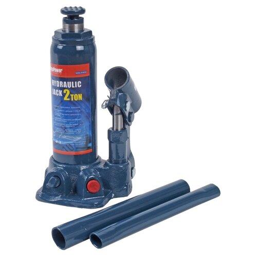 Домкрат бутылочный пневматический MegaPower M-90204S (2 т) синий домкрат бутылочный гидравлический megapower m 90504s 5 т синий