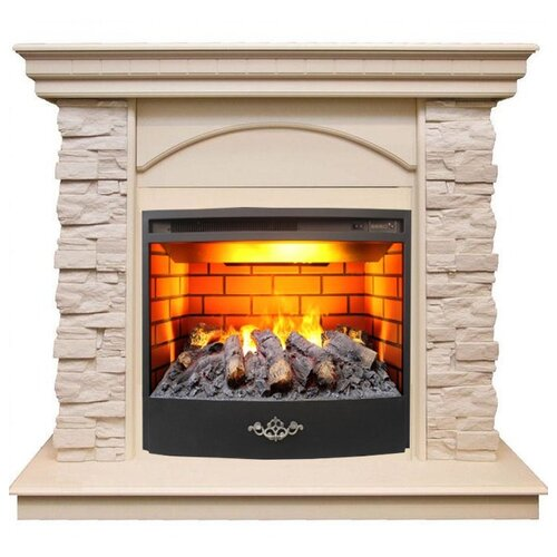 Электрический камин RealFlame Elford STD/EUG/HL/24/25,5 + Firestar 25,5 3D белый дуб электрический камин realflame kellie 25 5 26 firestar 25 5 3d белый камень