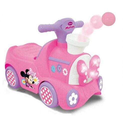 Купить Каталка-толокар Kiddieland Паровозик Минни с шарами (052597) со звуковыми эффектами розовый, Каталки и качалки