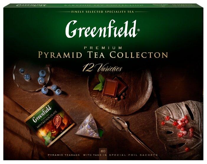 Чай Greenfield Pyramid Tea Collection 12 varieties ассорти в пирамидках подарочный набор — цены на Яндекс.Маркете