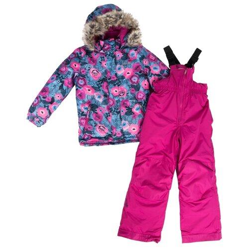 Купить Комплект с полукомбинезоном Buki F 19 M 708 размер 134, mauve rose, Комплекты верхней одежды
