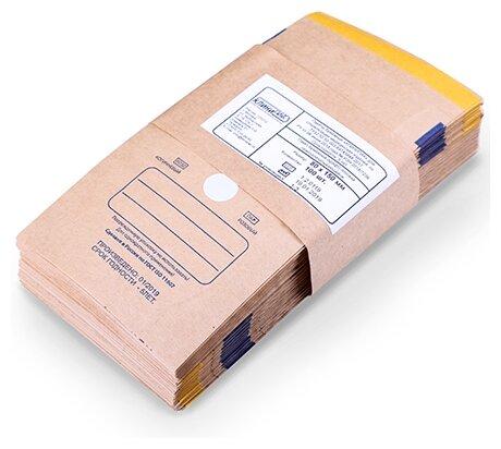 Пакет для стерилизованных инструментов КлиниПак Крафт-пакеты самоклеящиеся 80х150 мм, КлиниПак, 100 шт.