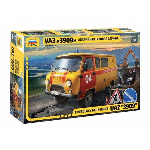 Купить Сборная модель ZVEZDA УАЗ 3909 Аварийно-газовая служба (43003) 1:43, Сборные модели