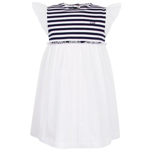 Платье Il Gufo размер 86, белый/синий/полоска