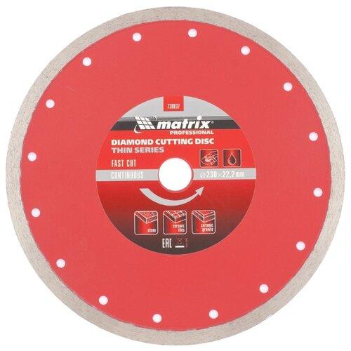 Диск алмазный отрезной 230x2.4x22.2 matrix 730837 1 шт. диск отрезной алмазный matrix professional 73180
