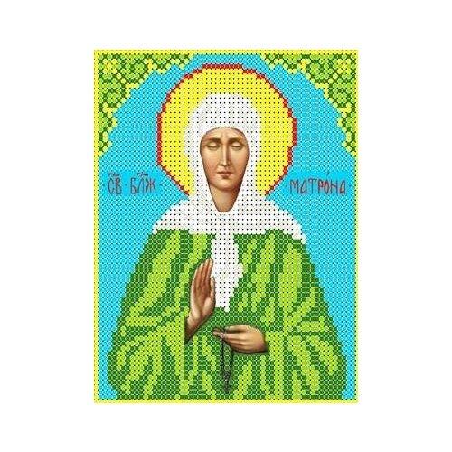 Набор Святая Матрона Московская бисер 13х16 Каролинка КБИН 5027
