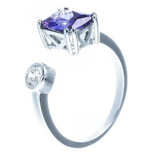 JV Кольцо с фианитами из серебра OL01363B-KO-001-WG, размер 17 jv кольцо с фианитами из серебра r150424d ko 001 wg размер 17