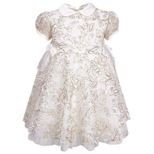 Платье Aletta размер 74, кремовый/золотой