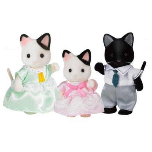 Купить Фигурки Sylvanian Families Семья Черно-белых котов 5306, Игровые наборы и фигурки
