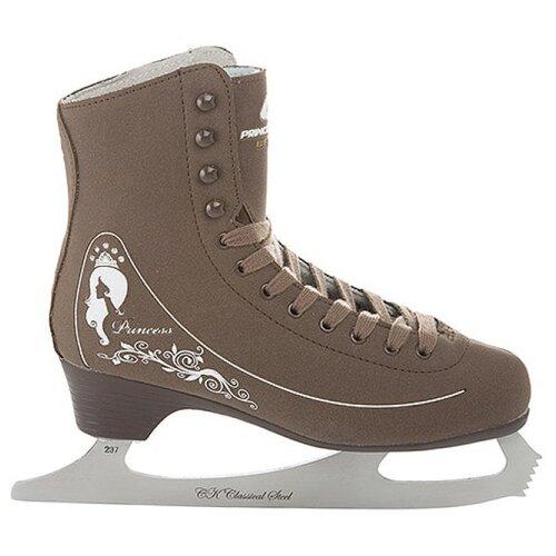 Женские фигурные коньки СК (Спортивная коллекция) Princess Lux Beige (CK-IS000038) бежевый р. 35