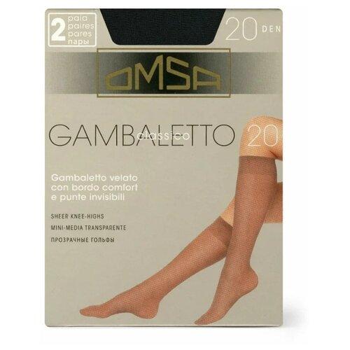 Капроновые гольфы Omsa Gambaletto Classico 057 20 den, 2 пары, размер 0 (one size), nero