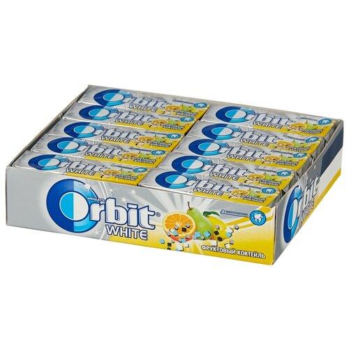 Жевательная резинка Orbit White Фруктовый коктейль с микрогранулами, без сахара, 30 шт. x 13,6 г вита актив жевательная резинка грейпфрут 16 г без сахара
