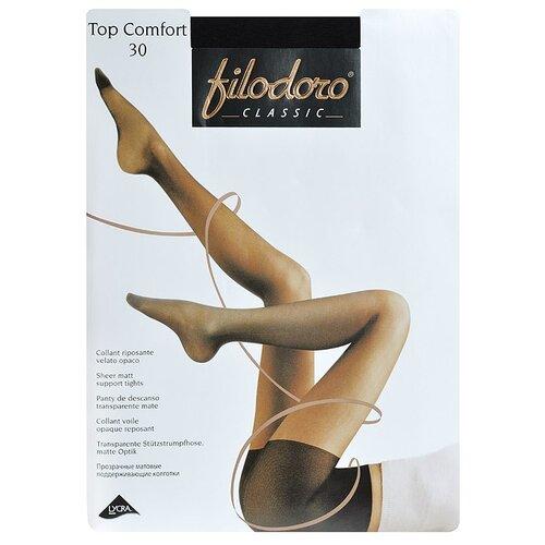 колготки женские filodoro classic cotton wool 100 цвет nero черный c113560cl размер 4 46 48 Колготки Filodoro Classic Top Comfort 30 den, размер 4-L, nero (черный)
