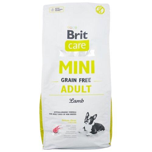 Сухой корм для собак Brit Care, беззерновой, ягненок 7 кг (для мелких пород)