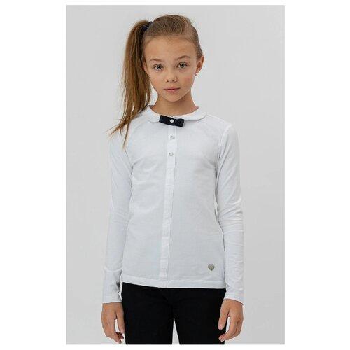 Блузка Button Blue размер 122, белый, Рубашки и блузы  - купить со скидкой