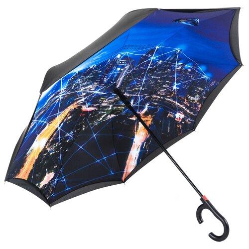 Зонт полуавтомат Maple Leaf Star city синий / черныйЗонты<br>