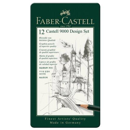 цена на Faber-Castell Набор чернографитовых карандашей Castell 9000, 12 шт (119064)
