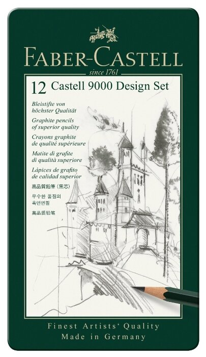 Faber-Castell Набор чернографитовых карандашей Castell 9000, 12 шт (119064)