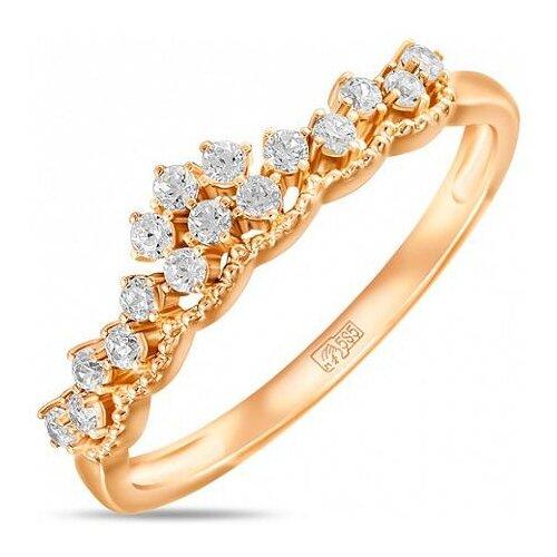 ЛУКАС Кольцо с 16 фианитами из красного золота R01-Z-59296-Z, размер 18 nlw t1b613 14 16 18 20