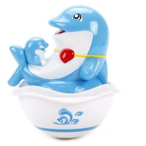 цена на Неваляшка S+S Toys Бамбини Дельфинчик (100744252) голубой/белый