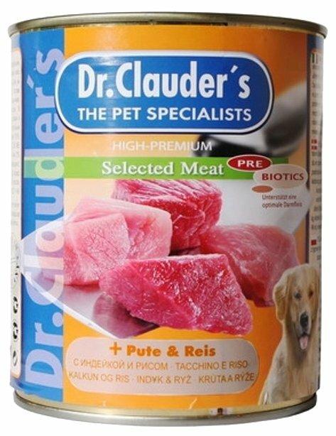 Корм для собак Dr. Clauder's Selected Meat с индейкой и рисом