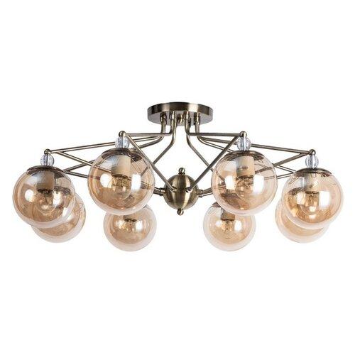 Фото - Люстра Arte Lamp Enigma A3133PL-8AB, E27, 320 Вт, кол-во ламп: 8 шт., цвет арматуры: бронзовый, цвет плафона: желтый люстра arte lamp enigma a3133pl 8ab 320 вт