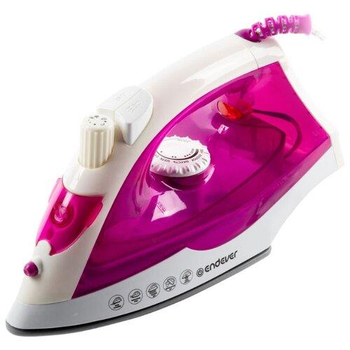 Утюг ENDEVER Delta-109 белый/розовый