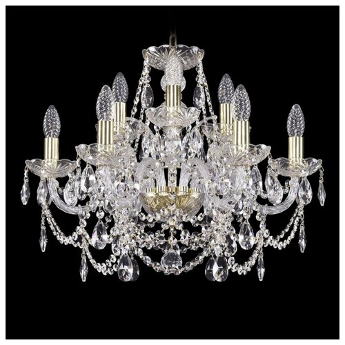 Фото - Люстра Bohemia Ivele Crystal 1411 1411/6+3/195/G, E14, 360 Вт люстра bohemia ivele crystal 1411 1411 12 6 300 h 94 g e14 720 вт