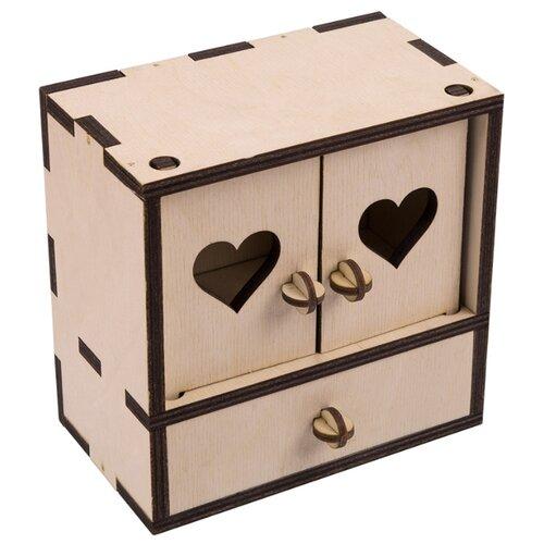 Купить Заготовки и основы Mr. Carving ВК-004 Комодик фанера 13 x 7 x 13 см ., Декоративные элементы и материалы