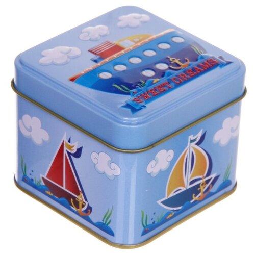"""Zheng DA HARDWARE Банка для продуктов """"Кораблик"""" 7.5*7.5*6.5 см голубой"""
