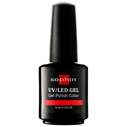 Гель-лак для ногтей Sophin Gel Polish, 12 мл, оттенок 0717 coral red средство для укрепления ногтей с кальцием sophin calcium builder gel 12 мл