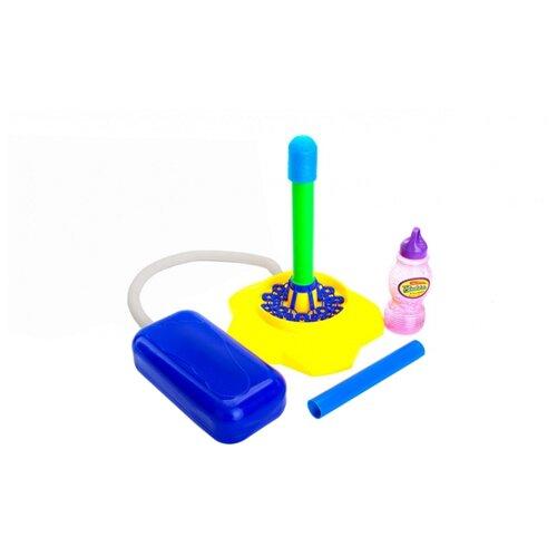 Ракета с мыльными пузырями и помпой Bradex Баббл DE 0178 синий/желтый/зеленый
