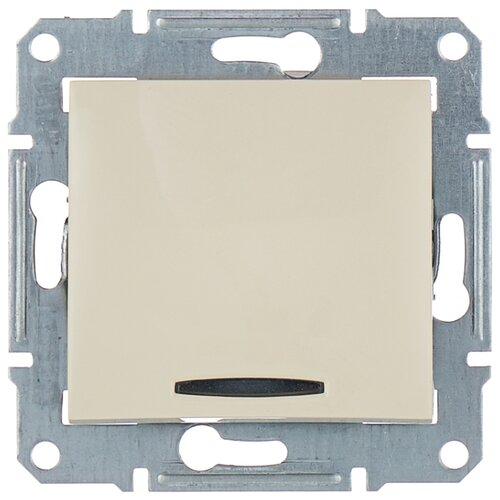 Выключатель 1-полюсный Schneider Electric SDN1400147 SEDNA, 10 А, бежевый выключатель 1 полюсный schneider electric atn000211 atlasdesign 10 а бежевый