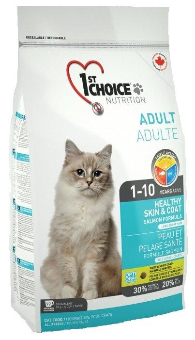 Корм для кошек 1st Choice Adult для профилактики МКБ, для здоровья кожи и шерсти, с лососем