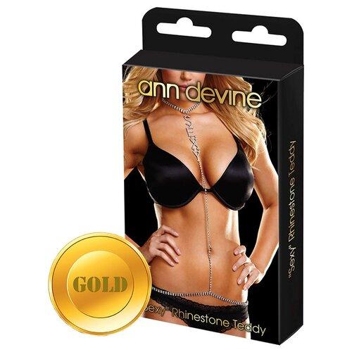 Ann Devine Украшение на тело Sexy Rhinestone Teddy Gold DIA-25 ann kathrin karschnick rack geheimprojekt 25 folge 1 ungekürzt