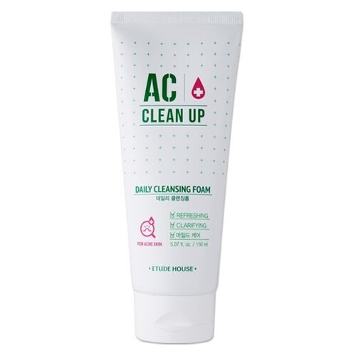 Etude House Пенка AC Clean Up Daily Cleansing Foam, 150 мл etude house make up